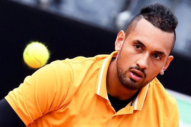 Nick Kyrgios is ranked No. 36 in the world among men's tennis players. File Photo by Ettore Ferrari/EPA-EFE