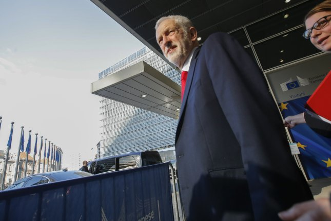 British Labor Party leader Jeremy Corbyn wants to stage a vote of no confidence for Prime Minister Boris Johnson. File Photo by Olivier Hoslet/EPA-EFE