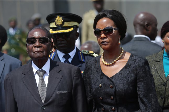 South Africa issued an arrest warrant for Grace Mugabe, the former first lady of Zimbabwe, in connection with an alleged assault of a model from August 2017. Photo by Aaron Ufumeli/EPA-EFE