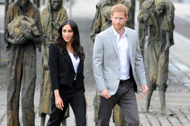 Prince Harry (R) and Meghan Markle will make an official visit to Australia, Fiji, the Kingdom of Tonga and New Zealand in October. File Photo by Aidan Crawley/EPA-EFE
