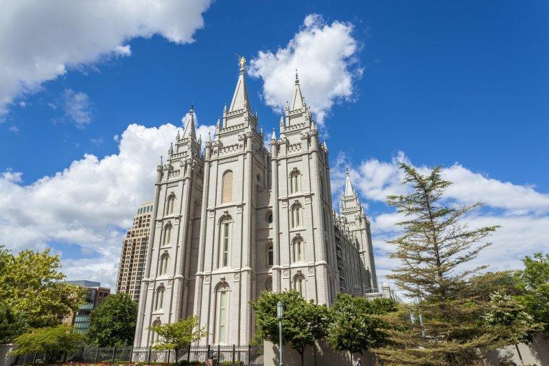 The Church of Jesus Christ of Latter-day Saints' Temple, Salt Lake City, Utah. UPI/Shutterstock/Sopotnicki