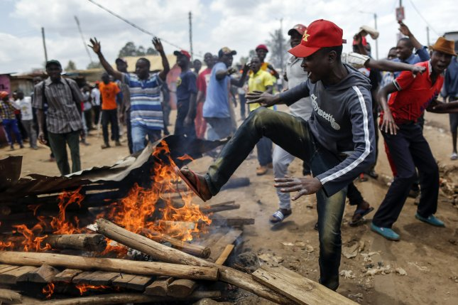 Monday, the Kenyan Supreme Court upheld the result the Oct. 30 re-election of President Uhuru Kenyatta, a vote that was marred by widespread demonstrations by opposition supporters. Photo by Dai Kurokawa/EPA-EFE .
