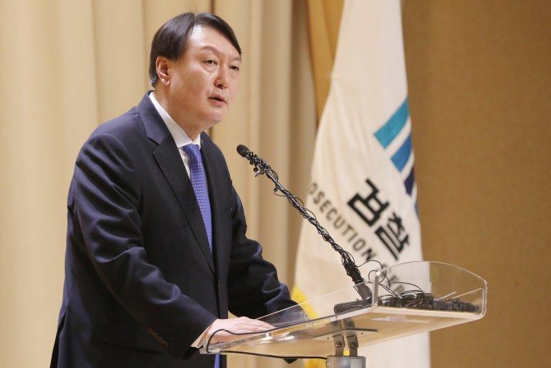 South Korea's former Prosecutor General Yoon Seok-youl was criticized in a North Korean propaganda statement Monday. File Photo by Yonhap/EPA-EFE