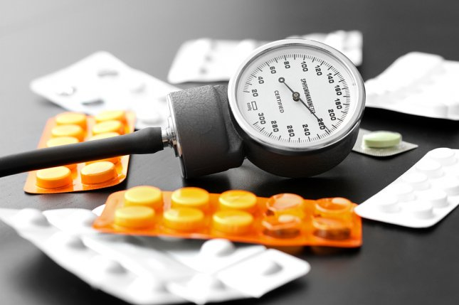 Higher systolic blood pressure levels increase a person's risk for heart attack and stroke, a new study has found. File Photo by ronstik/Shutterstock