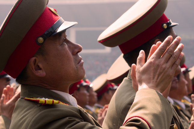 North Korean army officers in Pyongyang, North Korea, cheering for Kim Jong Un in 2012. North Korea has engaged in three underground nuclear tests – in 2006, 2009 and 2013, and has launched rockets since 1998, but on Tuesday Sung Kim said he had seen no sign of a fourth nuclear test. Photo by Astrelok/Shutterstock