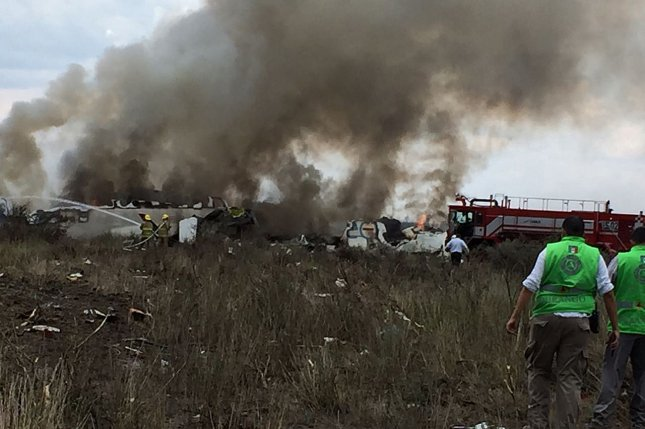 An Aeromexico flight that crashed Tuesday is being investigated by Mexican and U.S. authorities. Officials said they have located the black boxes from the wreckage. Photo by Civil rotection State Coordination/EPA-EFE