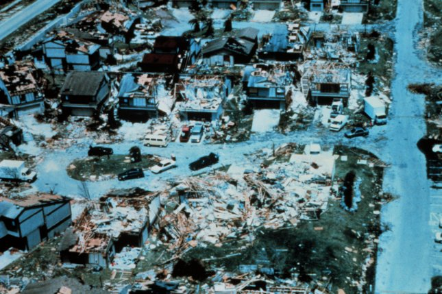 Hurricane Andrew caused $26.5 billion in damage in the United States and killed 65 people in the United States and Bahamas. File Photo courtesy of NOAA