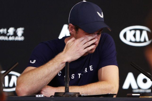 British tennis star Andy Murray speaks during a press conference Friday at the Australian Open in Melbourne, Australia. Photo by Daniel Pockett/EPA-EFE