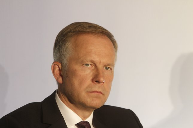 Governor of the Bank of Latvia Ilmars Rimsevics was detained by the country's Corruption Prevention Bureau after authorities raided his home and office. Photo by Valda Kalnina/EPA
