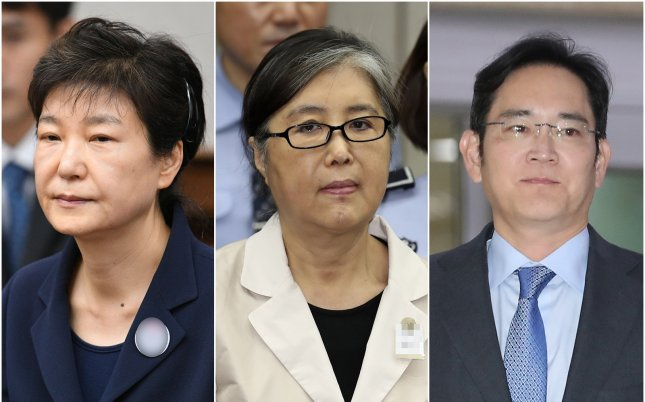 The Supreme Court sent a case to the Seoul High Court on Thursday, nullifying the lower court's rulings that sentenced former President Park Geun-hye (L), her friend Choi Soon-sil and Samsung Group heir Lee Jae-yongto 25 years in prison, 20 years in prison and a two-and-half-year suspended prison term, respectively. Photo by Yonhap