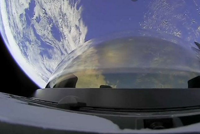 The cupola on the SpaceX Dragon Resilience capsule faces Earth in one of the first images released from orbit on the historic Inspiration4 spaceflight. Photo courtesy of SpaceX