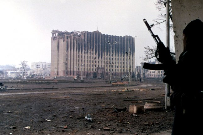 On January 19, 1995, Russian forces captured the presidential palace in the rebel republic of Chechnya. File Photo by Mikhail Evstafiev/Wikimedia
