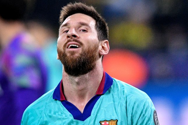 Barcelona's Lionel Messi agreed to a new pact with the La Liga club, which keeps him under contract for the next five seasons. Photo by Sascha Steinbach/EPA-EFE