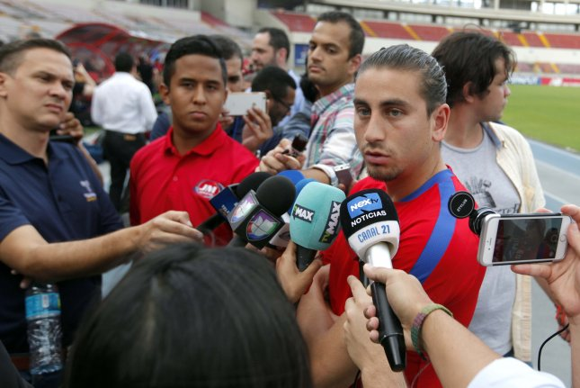 United States Men's soccer star Alejandro Bedoya (R) grew up in Weston, Fla., about 30 minutes from Marjorie Stoneman Douglas High School, the site of a mass shooting in 2018. Photo by Alejandro Bolivar/EPA