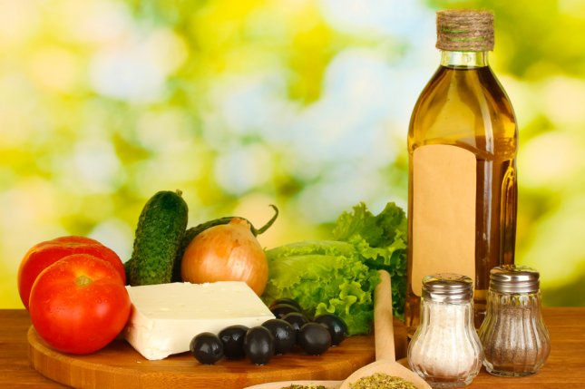 The Mediterranean diet is inspired by the dietary patterns of Greece, Southern Italy, and Spain and calls for high consumption of olive oil, legumes, unrefined cereals, fruits, and vegetables. File Photo by Africa Studio/Shutterstock