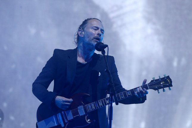 Thom Yorke and Radiohead are putting on free concerts to view on YouTube. File Photo by EPA/Nigel Roddis