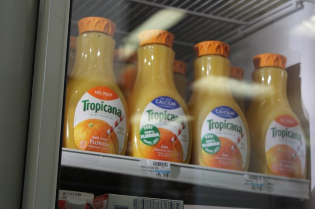 Among the products targeted in the proposed tariffs list is orange juice. File Photo by Billie Jean Shaw/UPI