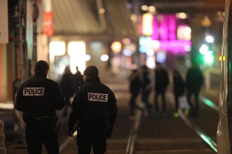 Strasbourg Christmas Market Shooting.Shooting Near Strasbourg France Christmas Market Leaves At