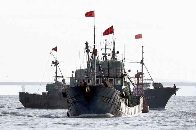 Chinese GPS units found on fishing boats operating illegally in South Korean waters are being analyzed by the Korea Maritime Science and Technology Institute. File Photo by Yonhap/EPA
