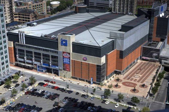 The Bell Centre, the home of the Montreal Canadiens, could host a United States-based team in the third round of the NHL playoffs next week in Montreal. Photo by Alexcaban/Wikimedia Commons