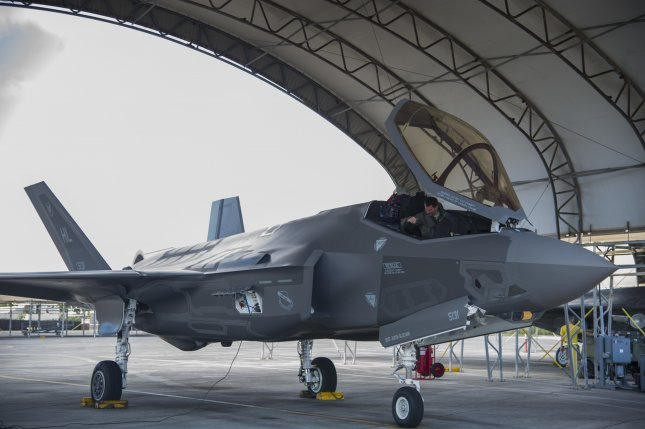 An F-35 Lightning II, from Hill Air Force Base Utah, prepares for take-off at Joint Base Pearl Harbor-Hickam on Oct. 13, 2017. Photo by Tech. Sgt. Heather Redman/U.S. Air Force