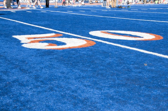 The role of chaplains for the football team is under debate at Boise State University in Idaho. File Photo by Robert Crow/Shutterstock