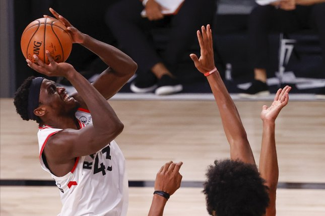 The NBA ultimately ruled that any contact tracing wouldn't extend to players other than Toronto Raptors forward Pascal Siakam, which allowed Friday's contest to be played. File Photo by John G. Mabanglo/EPA-EFE