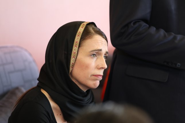 New Zealand Prime Minister Jacinda Ardern said she will never say the name of the man suspected of killing 50 people during a mass shooting at two mosques in Christchurch. EPA-EFE/SNPA / POOL NEW ZEALAND OUT