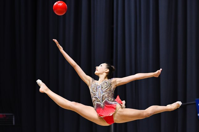 Team USA's Evita Griskenas has been practicing  rhythmic gymnastics at her home in Orland Park, Ill., during the coronavirus pandemic. Photo courtesy of John Cheng/USA Gymnastics