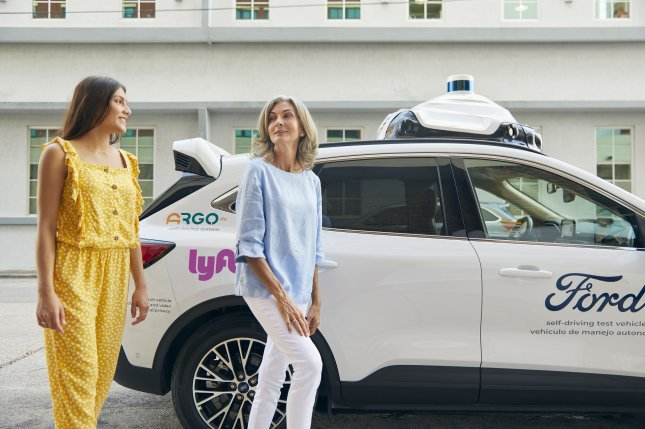 Ford called the project an industry-first collaboration that will result in at least 1,000 autonomous cars on the Lyft network in multiple U.S. cities over the next five years.Photo courtesy Argo AI/Lyft/Ford