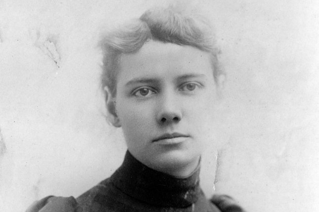 Portrait of journalist Elizabeth Cochrane, better known as Nellie Bly, taken ca. 1890. In 1889 Bly set out on an around the world adventure, emulating that taken by Jules Verne's fictional character Phileas Fogg. Photo courtesy the Library of Congress