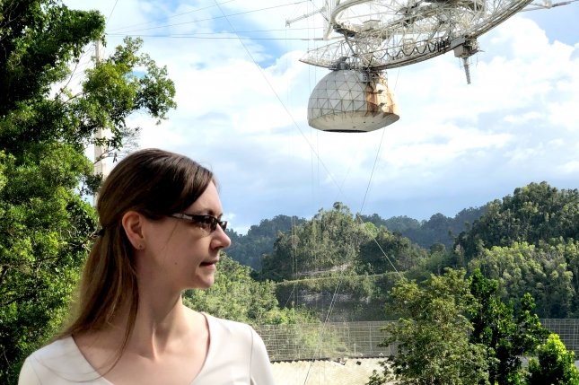 Anne Virkki, an astronomer at the Arecibo Observatory in Puerto Rico, studies near-earth asteroids that pose a threat to humanity. Photo by Paul Brinkmann/UPI
