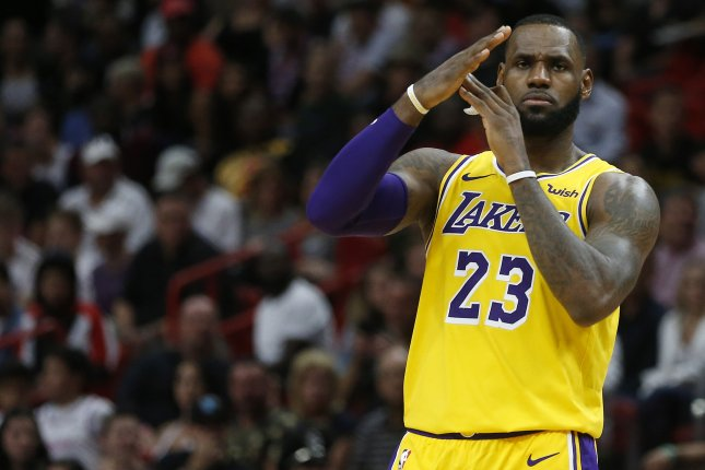 Los Angeles Lakers star LeBron James and Chicago Bulls legend Michael Jordan were the only players named to two All-Decade teams on NBA2K20. Photo by Rhona Wise/EPA-EFE
