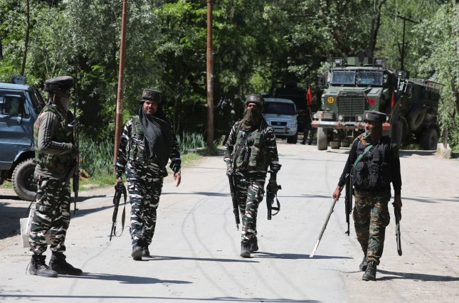 At least four Indian soldiers were killed Sunday in a battle that erupted in the disputed Kashmir region of India. File Photo by Farooq Khan/EPA-EFE