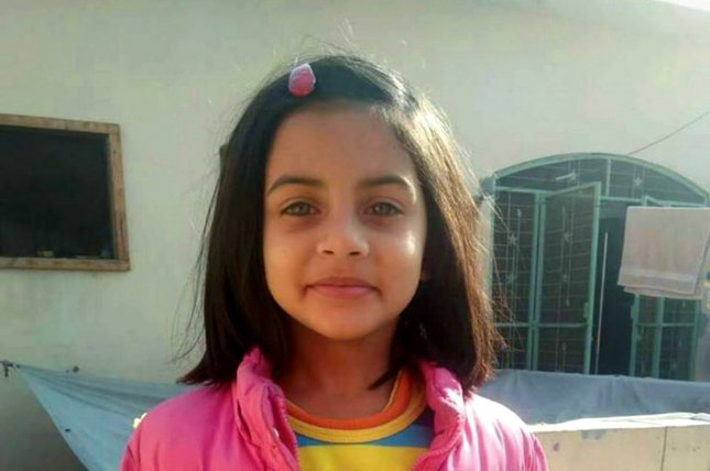 Police in Pakistan arrested a man in connection with the murder of 7-year-old Zainab Ansari Tuesday. File photo courtesy family handout/EPA-EFE