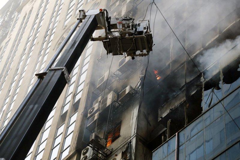Fire at Bangladesh office tower kills at least 19