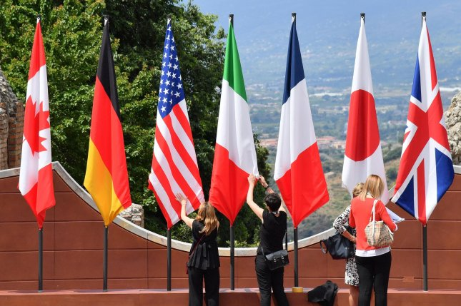 U.S. President Donald Trump has said he seeks to invite South Korea, Australia, India and Russia to this year's G7 summit. File Photo by Ettore Ferrari/EPA