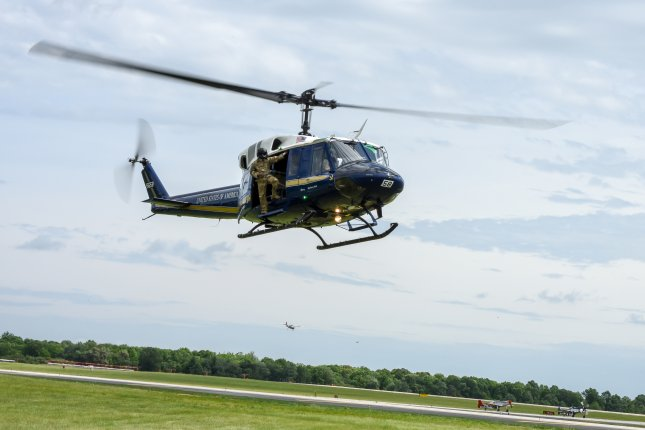 The UH-1N Huey assigned to the 1st Helicopter Squadronwas conducting routine training when it was shot at. File Photo by 2nd Lt. Jessica Cicchetto/U.S. Air Force