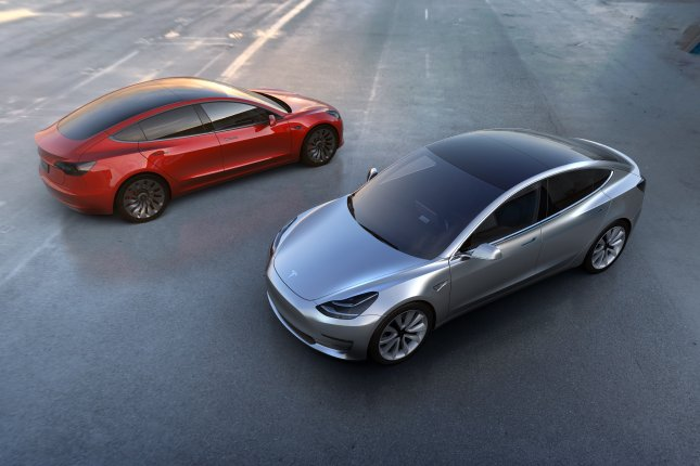 Tesla accelerated its Model 3 production in the last week with 5,000 vehicles, the automaker said. File Photo Courtesy Tesla/EPA-EFE