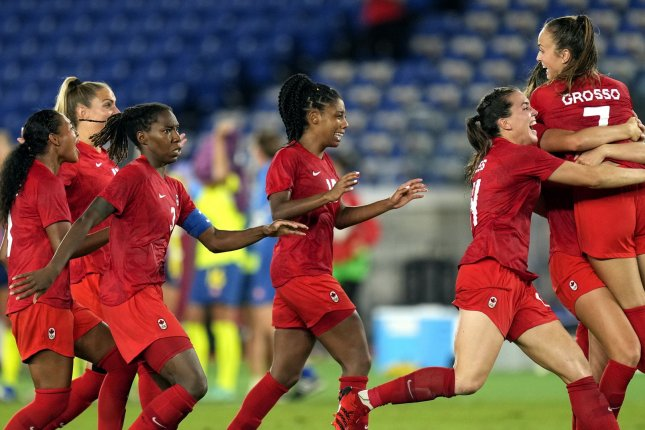 Canada claimed its first-ever Olympic gold in women's soccer and first Olympic gold in soccer overall since 1904 with a win over Sweden in the 2020 Summer Games gold medal match Friday in Yokohama, Japan. Photo by Franck Robichon/EPA-EFE