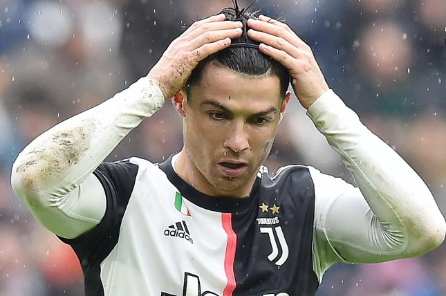 Cristiano Ronaldo will miss his fourth match since he tested positive for COVID-19 earlier this month after he was ruled out for Juventus-Barcelona on Wednesday in Turin, Italy. Photo by Alessandro Mi Marco/EPA-EFE