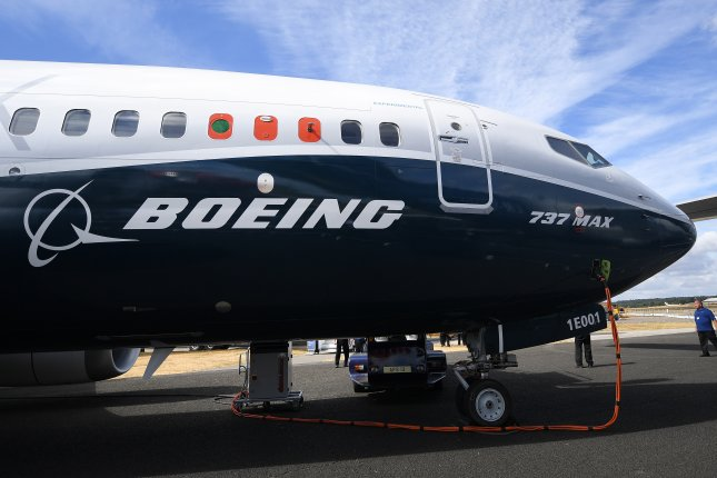 The 737 Max, grounded since March, has not yet been cleared to return to the skies. File Photo by Andy Rain/EPA-EFE