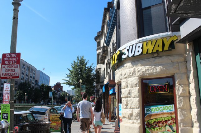 Subway was sued after a customer posted a photo that went viral showing a footlong sub that barely reached 11 inches. File Photo by Billie Jean Shaw/UPI