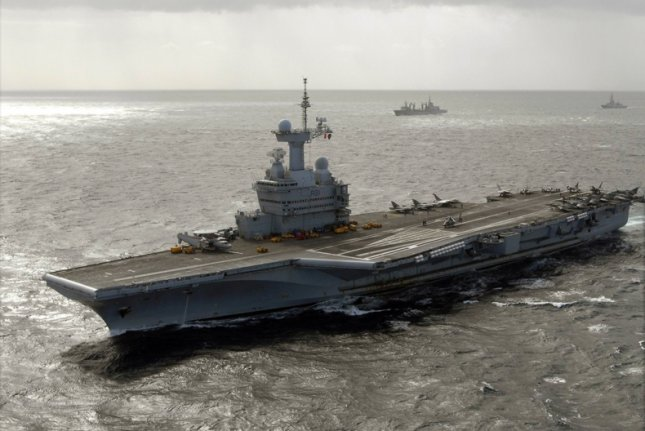 French Rafale fighter jets on Friday began launching attacks against the Islamic State in Iraq from the Charles de Gaulle aircraft carrier in the eastern Mediterranean Sea to support Iraqi security forces ahead of the battle for Mosul. Photo courtesy of U.S. Navy