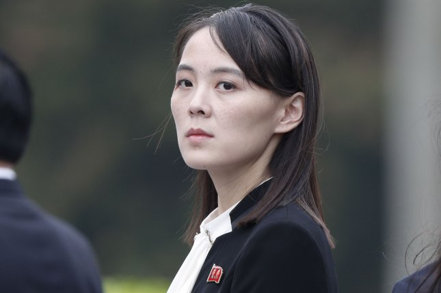 Kim Yo Jong, sister of North Korean leader Kim Jong Un, attends wreath-laying ceremony at the Ho Chi Minh Mausoleum in Hanoi, Vietnam, in 2019. File Pool Photo by Jorge Silva/EPA-EFE