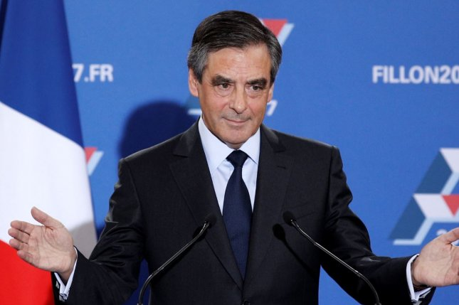 Francois Fillon after declaring victory in the Republican party's presidential runoff primary at Maison de la Chimie in Paris on Sunday. Photo by Yoan Valat/European Press Agency