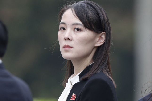 Kim Yo Jong, believed to be vice director of the Propaganda and Agitation Department of the Korean Workers' Party, has been sued in South Korea over destruction of the liaison office.File Photo by Jorge Silva/EPA-EFE