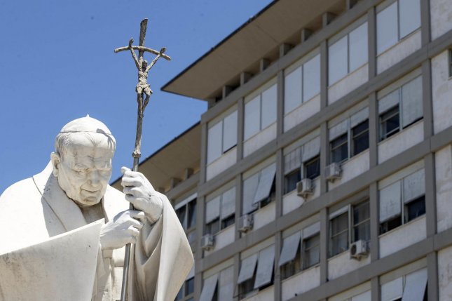 Vatican officials said the pope will perform the Angelus prayer on Sunday from the 10th floor of the Gemelli Hospital in Rome.Photo by Massimo Percossi/EPA-EFE