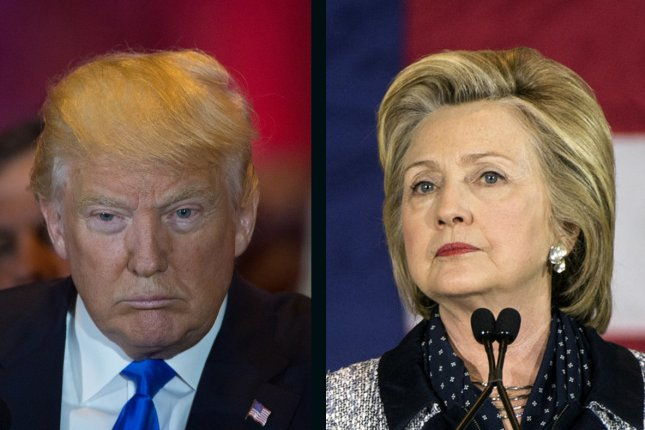 Donald Trump maintained his 3 percentage point lead over Hillary Clinton in Wednesday's UPI/CVoter tracking poll. UPI File Photos