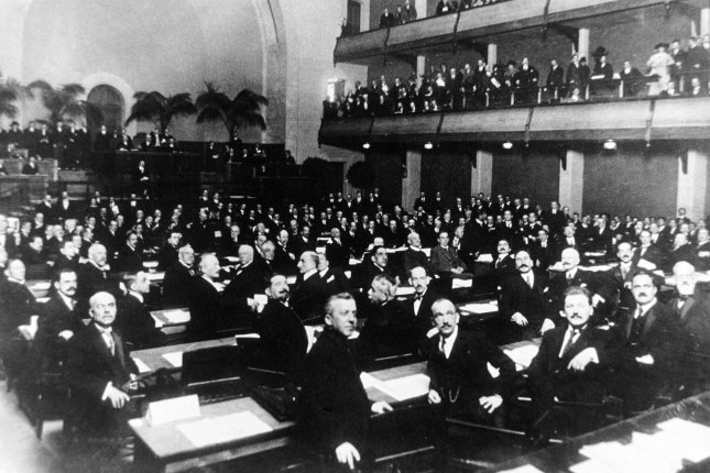 The official opening of the League of Nations takes place on November 15, 1920, in Geneva, Switzerland. File Photo courtesy United Nations